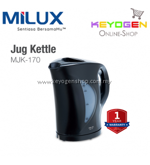 MILUX Jug Kettle MJK-170 - Cordless Type FREE 2 Sachets Ovaltine Original
