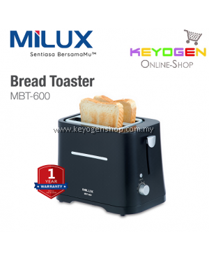 MILUX Bread Toaster MBT-600 - Electronic Browning Control - 1 Year Warranty FREE 2 Sachets Ovaltine Original