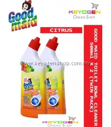 GOODMAID Toilet Bowl Cleaner ( CITRUS FRESH ) 500ml X 2 (Twin Pack) FREE 1pc Goodmaid Sponge