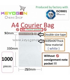 1000pcs Similar to A4 Size - (S SIZE) ( NO A5 pocket ) Courier plastic -Flyer pouch Mailer Bag Packing -white - Friendly to the thermal printer seller