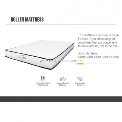 (Self Collect) NeckPro Rollen (Queen) Compressed & Rolled Pocketed Spring Mattress (8 Inch Thickness) (10 Years Warranty)