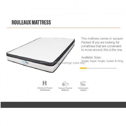 (Self Collect) NeckPro Rouleaux (Queen) Compressed & Rolled Pocketed Spring Mattress (10 Inch Thickness) (10 Years Warranty)