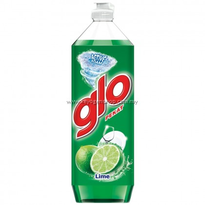 Glo Lime Dishwashing Liquid 900ml FREE 1pc GOODMAID SCOURING SPONGE